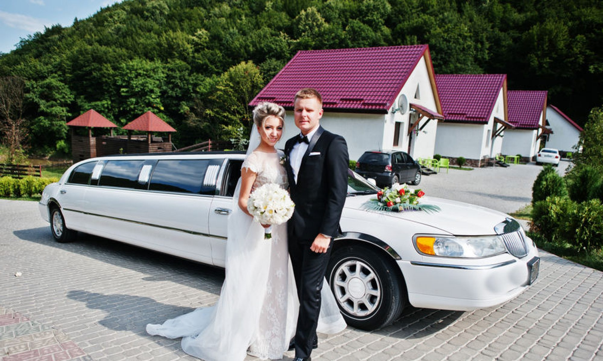 Couple In Front Of The Limo